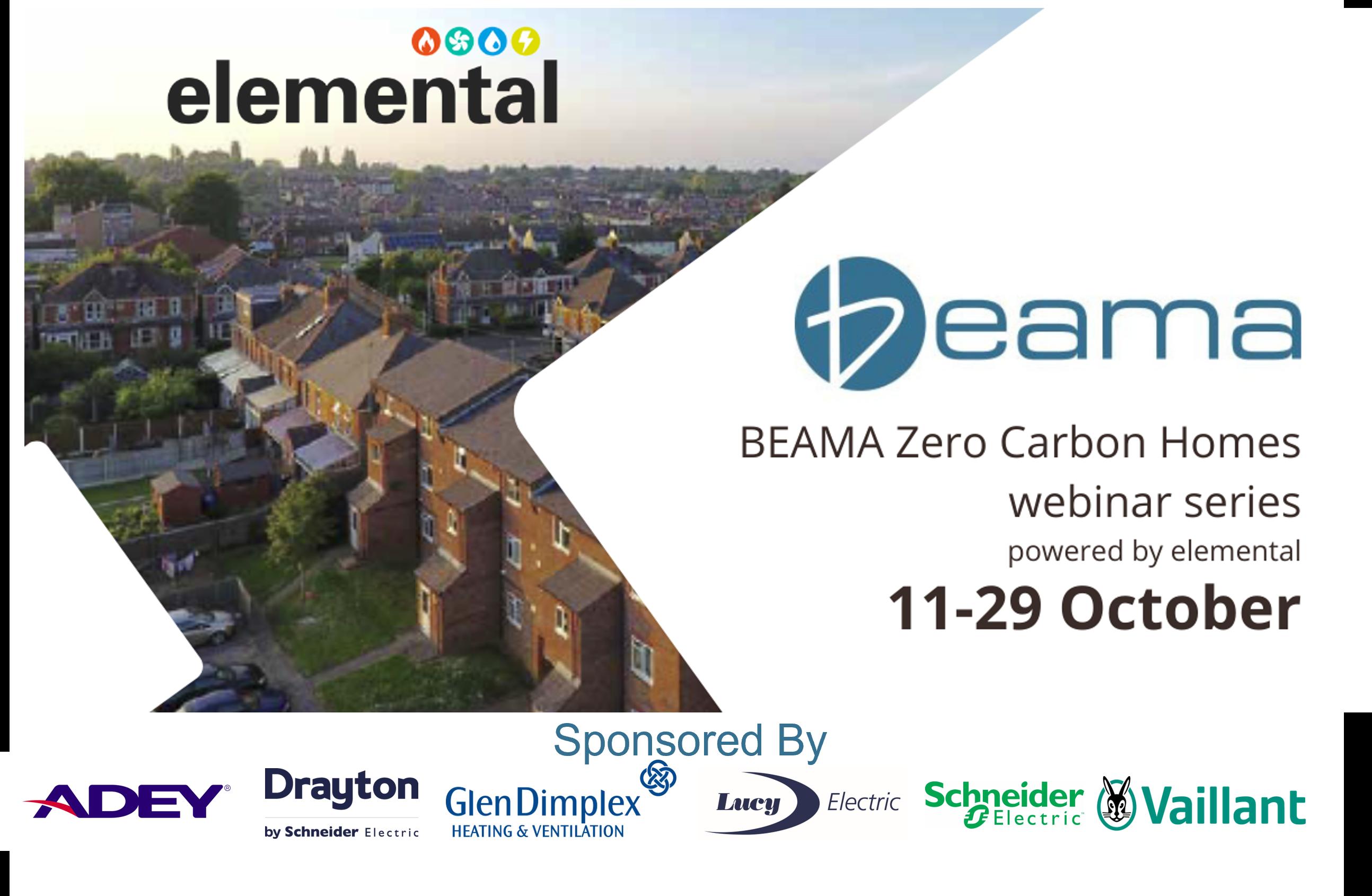 Drayton sponsors BEAMA Zero Carbon Homes Webinars 2021