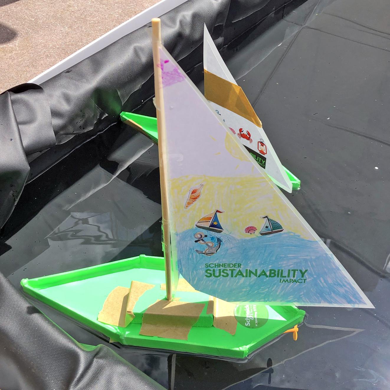 children STEM activity - how to make a motor boat design 1