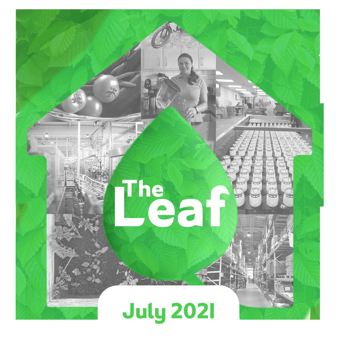The Leaf Corporate Sustainability Blog logo July 2021