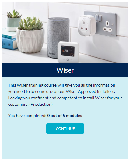 Drayton Know How free Wiser smart heating installer training module