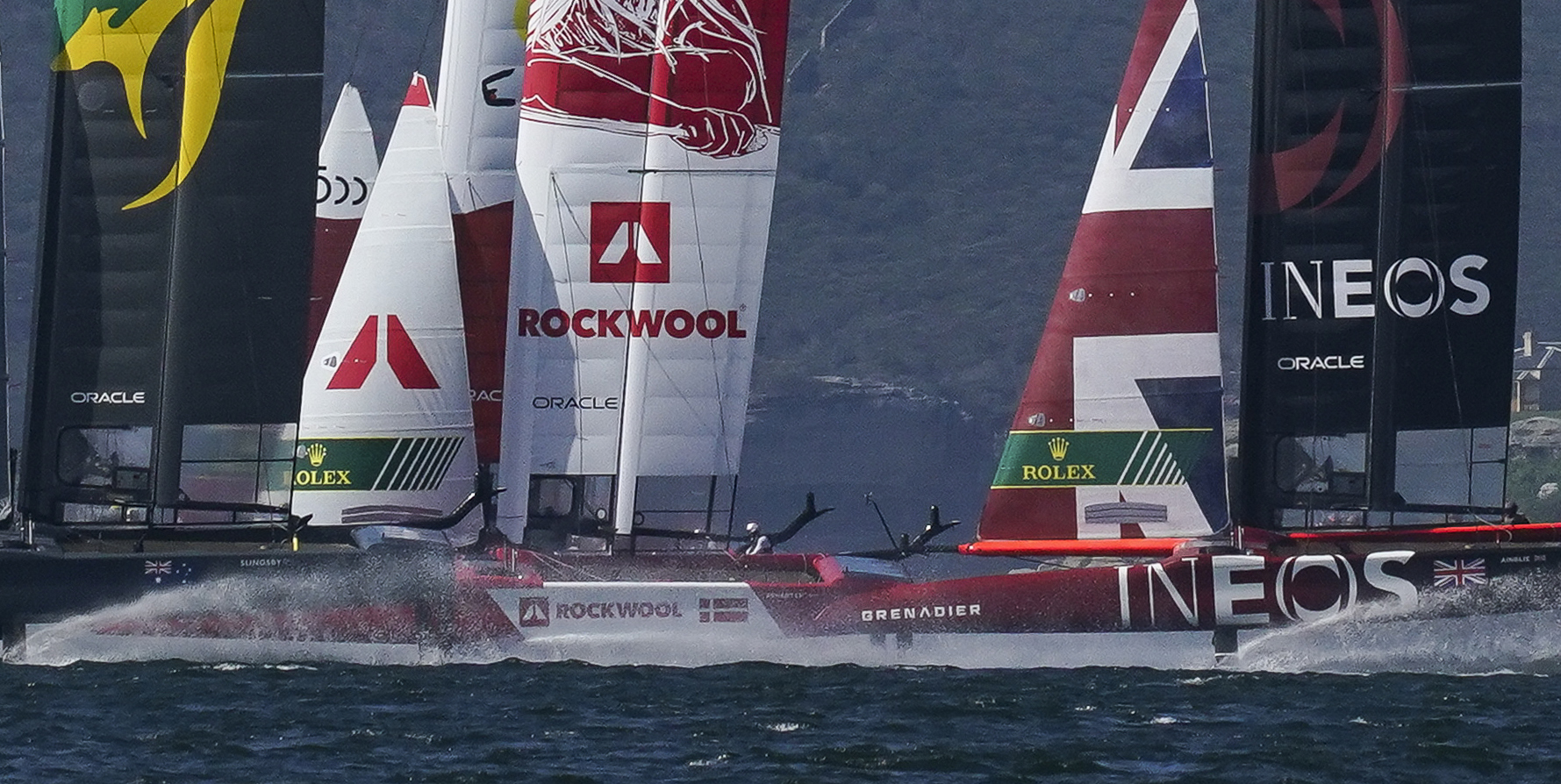 SailGP F50 Boats Racing High Speed
